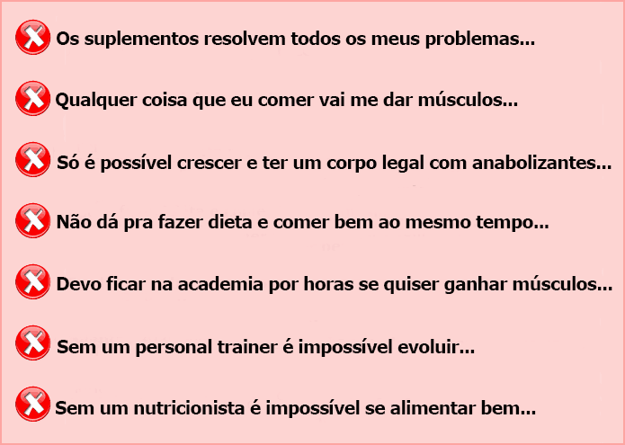 Mitos do Crescimento Muscular